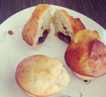 Muffins banane chocolat sains et sans gluten