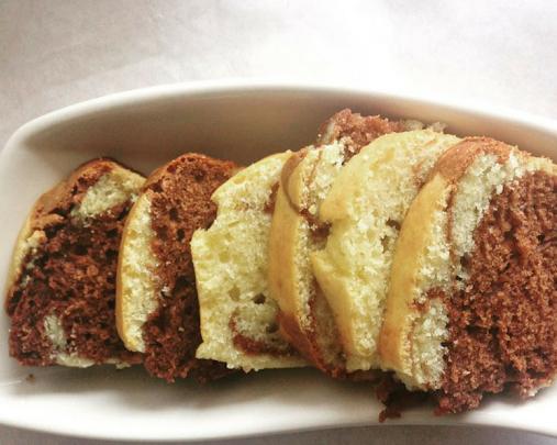 Cake marbré choco-vanille