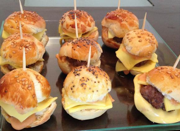 Mini burgers faits maison