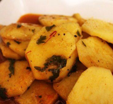 Patate douce en sauce