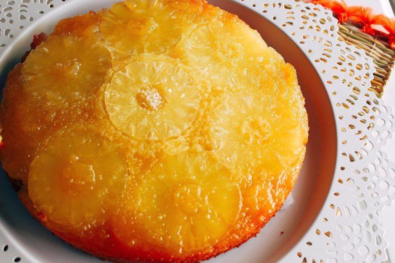 Gâteau antillais ananas noix de coco