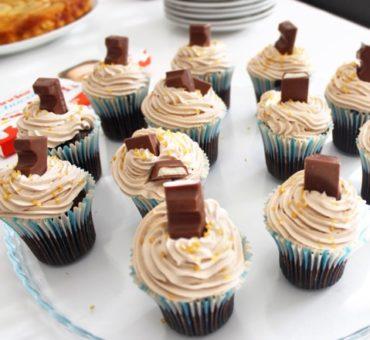 Cupcakes chocolat et ganache montée Kinder